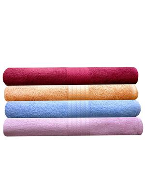 India Furnish IFTW15146-60 Multicolor Bath Towel Set of 4