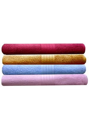 India Furnish IFTW15154 Multicolor Bath Towel Set of 4