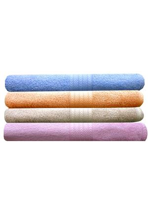 India Furnish IFTW15165 Multicolor Bath Towel Set of 4