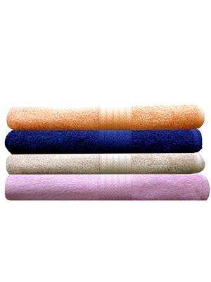 India Furnish IFTW15167 Multicolor Bath Towel Set of 4