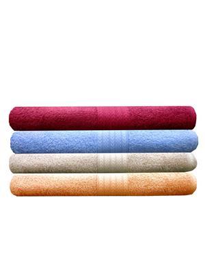 India Furnish IFTW15169-60 Multicolor Bath Towel Set of 4