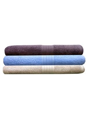 India Furnish IFTW15173 Multicolor Bath Towel Set of 3