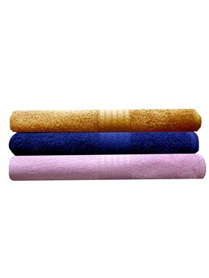 India Furnish IFTW15174-60 Multicolor Bath Towel Set of 3
