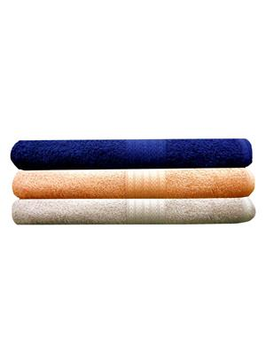 India Furnish IFTW15178-60 Multicolor Bath Towel Set of 3
