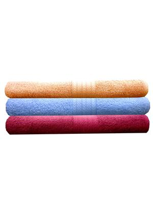 India Furnish IFTW15179 Multicolor Bath Towel Set of 3