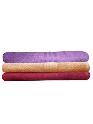 India Furnish IFTW15185 Multicolor Bath Towel Set of 3