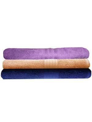 India Furnish IFTW15186 Multicolor Bath Towel Set of 3