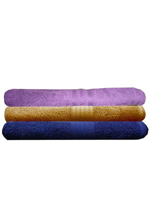 India Furnish IFTW15192 Multicolor Bath Towel Set of 3