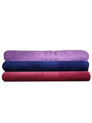 India Furnish IFTW15199 Multicolor Bath Towel Set of 3