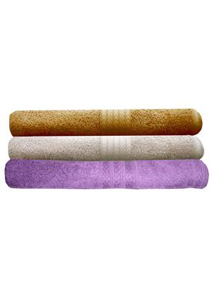 India Furnish IFTW15204 Multicolor Bath Towel Set of 3