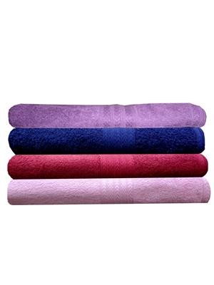 India Furnish IFTW15222 Multicolor Bath Towel Set of 4