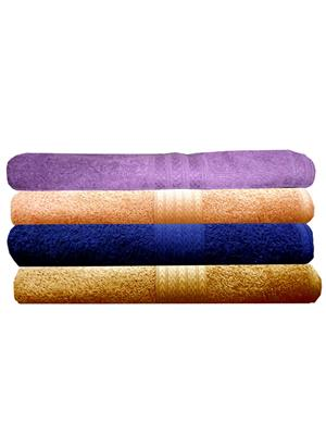 India Furnish IFTW15230 Multicolor Bath Towel Set of 4