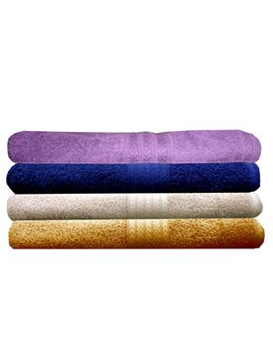 India Furnish IFTW15234 Multicolor Bath Towel Set of 4