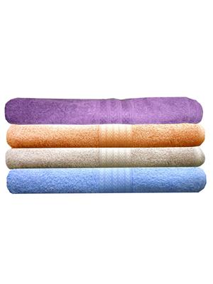 India Furnish IFTW15235 Multicolor Bath Towel Set of 4