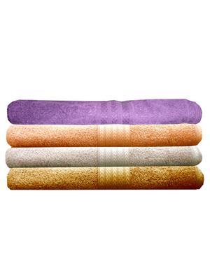 India Furnish IFTW15236 Multicolor Bath Towel Set of 4