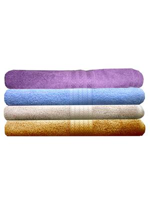 India Furnish IFTW15238 Multicolor Bath Towel Set of 4