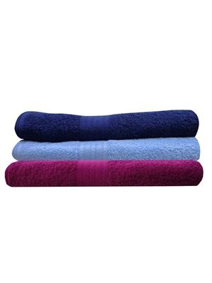 India Furnish IFTW15276 Multicolor Bath Towel Set of 3