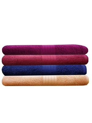 India Furnish IFTW15290 Multicolor Bath Towel Set of 4