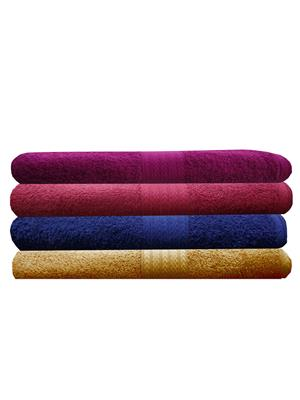 India Furnish IFTW15291 Multicolor Bath Towel Set of 4