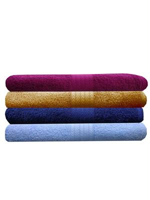 India Furnish IFTW15293 Multicolor Bath Towel Set of 4
