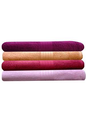 India Furnish IFTW15299 Multicolor Bath Towel Set of 4