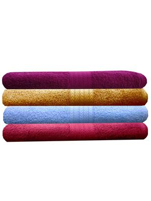 India Furnish IFTW15301 Multicolor Bath Towel Set of 4