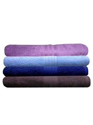 India Furnish IFTW15322 Multicolor Bath Towel Set of 4