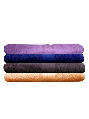 India Furnish IFTW15328-60 Multicolor Bath Towel Set of 4