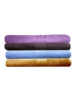 India Furnish IFTW15330-60 Multicolor Bath Towel Set of 4