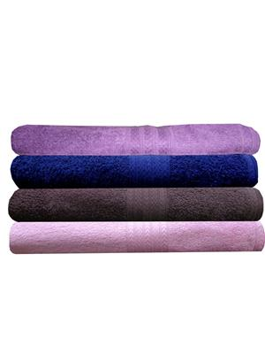 India Furnish IFTW15338-60 Multicolor Bath Towel Set of 4
