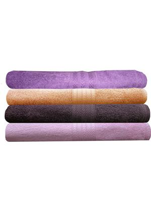 India Furnish IFTW15340-60 Multicolor Bath Towel Set of 4