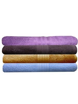 India Furnish IFTW15343-60 Multicolor Bath Towel Set of 4