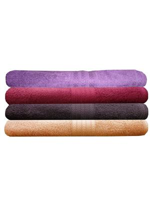 India Furnish IFTW15346-60 Multicolor Bath Towel Set of 4