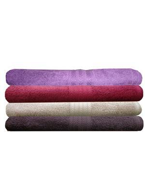 India Furnish IFTW15347-60 Multicolor Bath Towel Set of 4