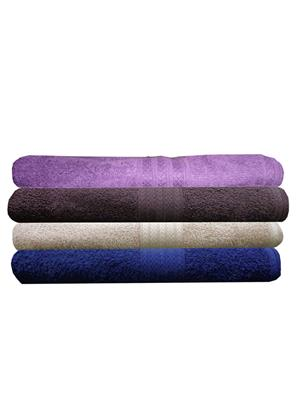 India Furnish IFTW15350 Multicolor Bath Towel Set of 4