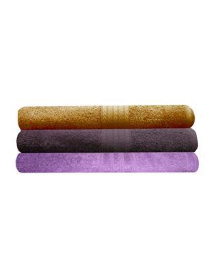India Furnish IFTW15356-60 Multicolor Bath Towel Set of 3