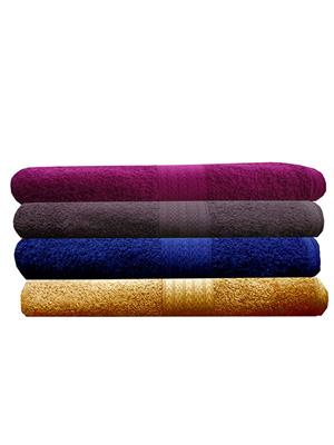 India Furnish IFTW15380 Multicolor Bath Towel Set of 4
