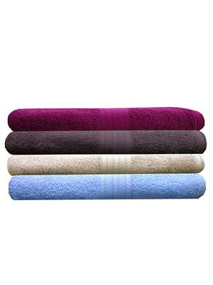 India Furnish IFTW15383 Multicolor Bath Towel Set of 4