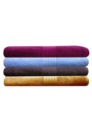 India Furnish IFTW15395 Multicolor Bath Towel Set of 4