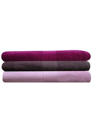 India Furnish IFTW15409 Multicolor Bath Towel Set of 3