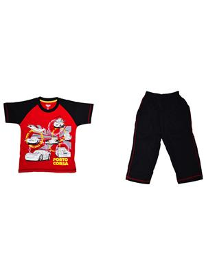 Fubu Iilw1311R_Bk Multicolored Boy T-Shirt-Lower Set Of Combo Pack