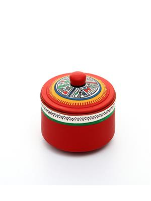 Indikala Ik-01-018 Red Pickle Jar