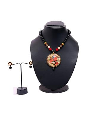 Indikala Ik-01-1006 Multicolored Pendant Necklace
