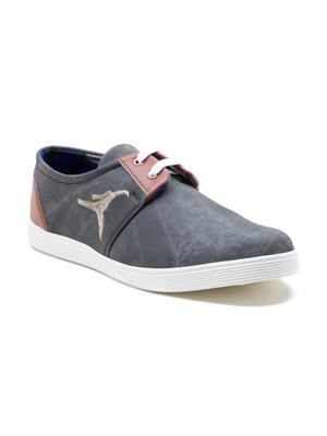 Iroo IRO-BLK-CAN Black Men Casual Shoes