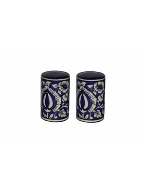 Indeasia Srijan ISC000030 Salt And Pepper Shaker Blue Mughal Design