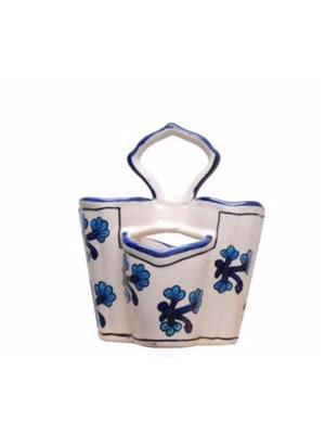 Indeasia Srijan ISC000034 Spoon Stand Blue Floral Design