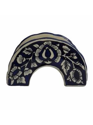 Indeasia Srijan ISC000058 NapkHolder Blue Mughal Design