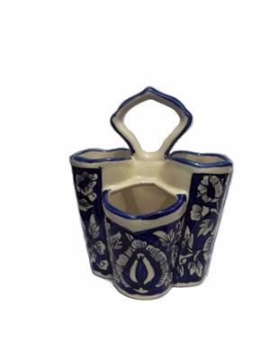 Indeasia Srijan ISC000089 Spoon Stand Blue Mughal Design