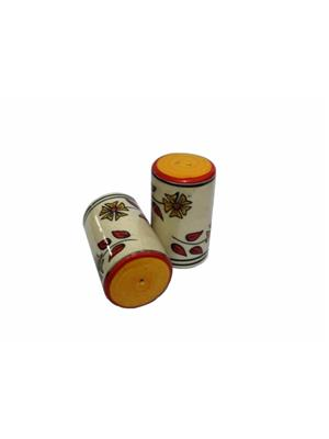 Indeasia Srijan ISC000094 Lead Free Salt And Pepper Set Floral design Red - Yellow Combination