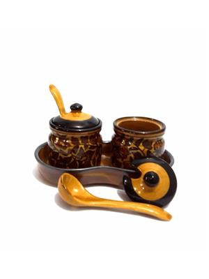 Indeasia Srijan ISC000101 Lead Free Pickle Set Of 7 pieces Heritage Design